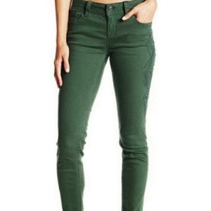 Miss Me Mid Rise Embroidered Skinny Jeans